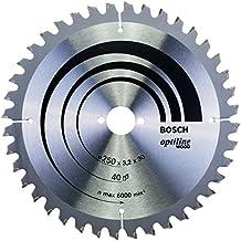 Bosch 2 608 640 643  - Hoja de sierra circular Optiline Wood - 250 x 30 x 3,2 mm, 40 (pack de 1)