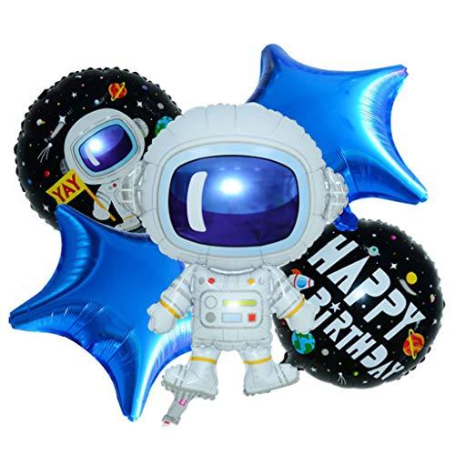 Dkings Weltraum hängende Windung nach Hause Klassenzimmer Dekor für Junge Mädchen Kinder Solar System Party Dekoration Raum unter dem Motto Birthday Party Favor Supplies, Weltraum Party- Spielzeug - Brief X Ballon