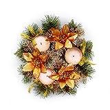 belupai Bunte Luxus Weihnachtskr?nze mit B?Gen Dekorationen Indoor Outdoor K¨¹nstliche Weihnachtskugeln Girlande F¨¹r Baum T¨¹r H?ngen (Bronze)