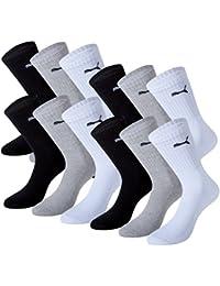 Puma sport chaussettes Paquet de de 12 comprend une libre Chaussettes Adidas