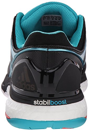Adidas Stabil Boost Volley scarpe, nucleo nero / calzino verde / bianco, 6 M Us Core Black/Sock Green/White