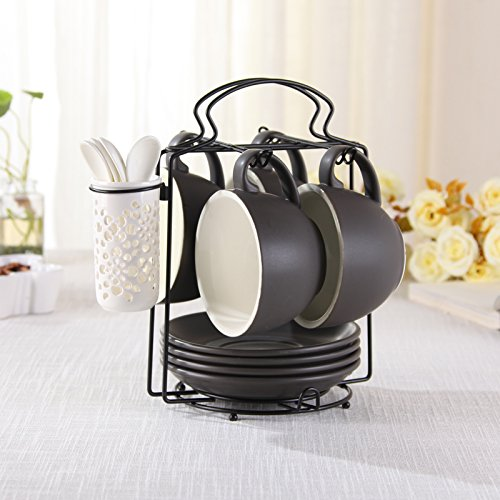 YOYOCCI Keramik Nachmittagstee Kaffee Tassen Büro Haus Hohe Kapazität Untertasse Regale