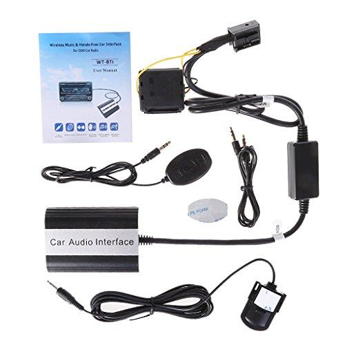 FlowerPEI - 1 juego de manos libres Bluetooth para auto, MP3, AUX,...