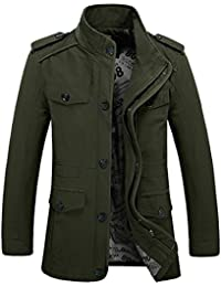 Military Jacket,Mens Air Force Jacket Slim Fit Long Sleeve Cotton Casual Lightweight Warm Zipped Jacket Parka Trench Coats Blazer Outerwear With Multi Pockets