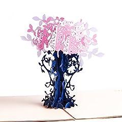 Idea Regalo - Paper Spiritz Biglietto Auguri Matrimonio 3D Biglietto Auguri Pop Up Biglietto Compleanno Cartolina Auguri San Valentino Biglietto Compleanno Pop Up Valentine's Day Thank You Birthday Card