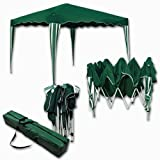 Falt-Pavillon Easy-Up 3x4m grün-weiss