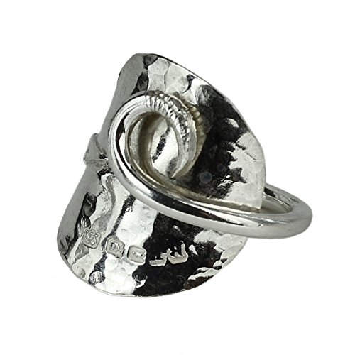 Solid Silver Spoon Ring - Made From A Vintage Coffee Bean Spoon