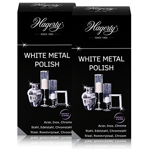 Hagerty White metal Polish - Polisher for steel, stainless steel 250 ML (2 units)