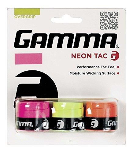 Gamma Griffband Overgrip Neon Tac 3er, rosa/orange/gelb, AGNOT-10