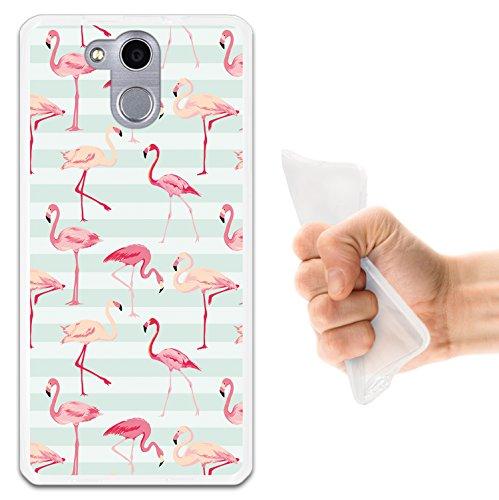 WoowCase Elephone P7000 Hülle, Handyhülle Silikon für [ Elephone P7000 ] Retro Flamingo Handytasche Handy Cover Case Schutzhülle Flexible TPU - Transparent