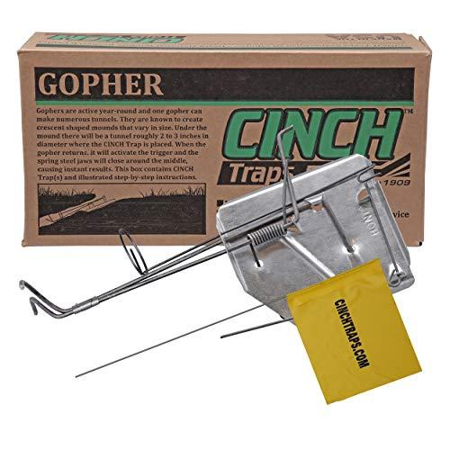 Cinch traps-medium Gopher Falle: Ein Gopher Falle mit Tunnel Markieren Flagge und instructions- Made in America -