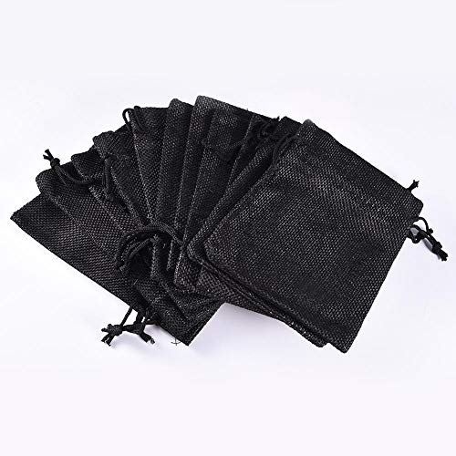 Zay12pcs Natural Linen Pouches Mischfarbe Sackleinen Tasche mit Kordelzug Verpackung Lagerung Mini Breathable leichte Geschenk Taschen für Hochzeitsgeschenk Taschen Schmuck Tasche