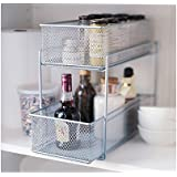 Silver Wire Mesh Kitchen Cupboard Baskets