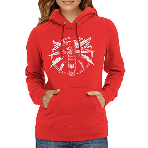 TEXLAB - Hexer Logo - Damen Kapuzenpullover, Größe M, (Witcher Kostüm Geralt)