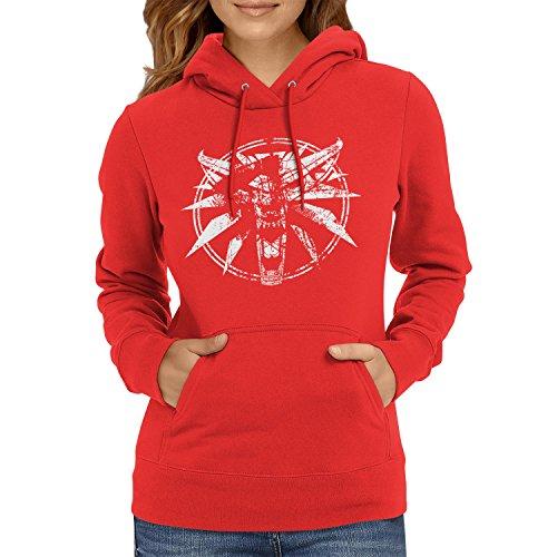 TEXLAB - Hexer Logo - Damen Kapuzenpullover, Größe M, rot