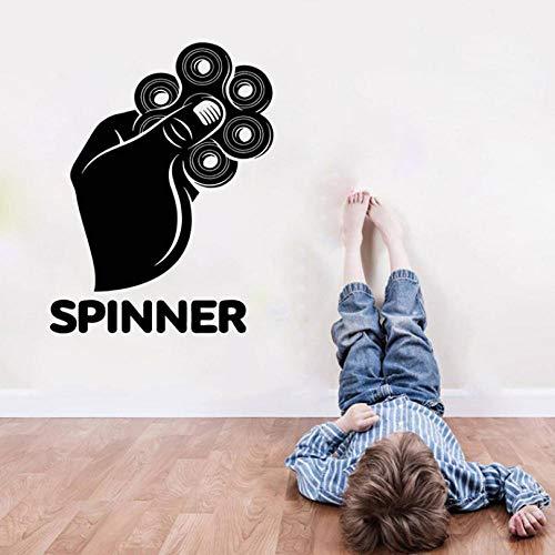 sybdnr 44 * 57cm jeu spinner hand boys chambre sticker mural autocollant fait main jeu vidéo enfant