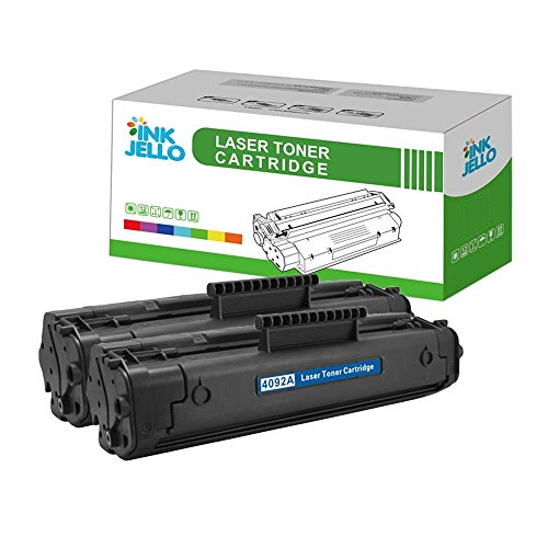 InkJello - Cartucho de tóner compatible para HP LaserJet 1100 1100A 1100A se 1100A xi 1100se 1100xi 3200 3200 3200m 3200se C4092A/EP-22 (negro, 2 unidades)