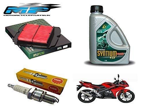 Kit Entretien pour Honda CBR125 2004-16 : Filtre à Air, Bougies D'Allumage et Huile