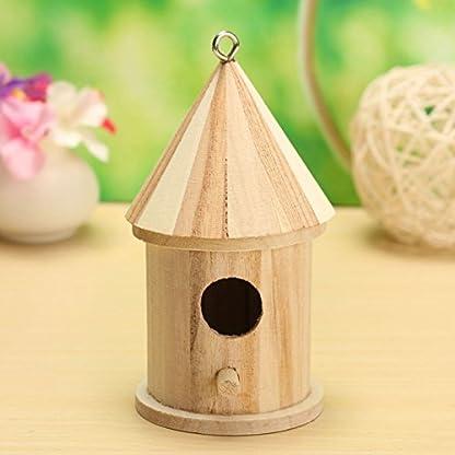 Dreammy New Wooden Bird House Birdhouse Hanging Nesting Box Hook Home Garden Decor 5