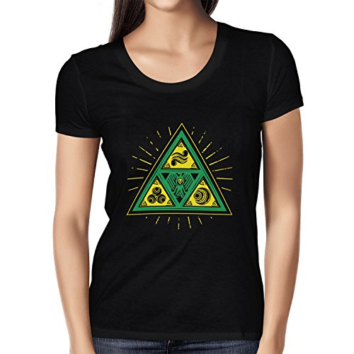 TEXLAB - Triforce Triangle - Damen T-Shirt Schwarz