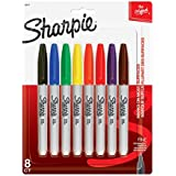 Sharpie Fine Point Permanent Markers 8/Pkg-Assorted Colors
