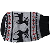 Generic Black Turtleneck Pet Puppy Dog Sweater Clothes - Size S Black , Grey And Red