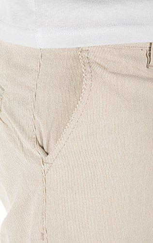 Yazubi Herren Chino Shorts Edward - Elegante, Shorts aus Sommerstoff gemustert Braun (Rainy Day 135304)