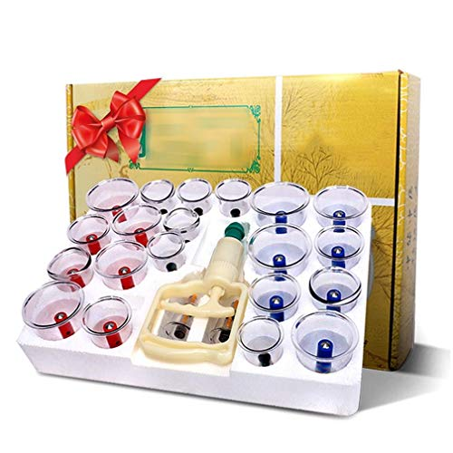 Stretch Mark Reducer (BAGUANNB Cupping Transparent 24 Cans Chinese Cupping Massage Therapy Set Different Size - Facelift Pain Relief Reduce Cellulite Lymph Drain Anti-Aging Cellulite Wrinkle Reducer Increase)
