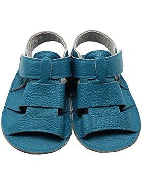 Mejale Baby Schuhe Neugeborenen Sandalen Schuhe rutschfest Kleinkind ersten Wanderer Sommer Schuhe Blue