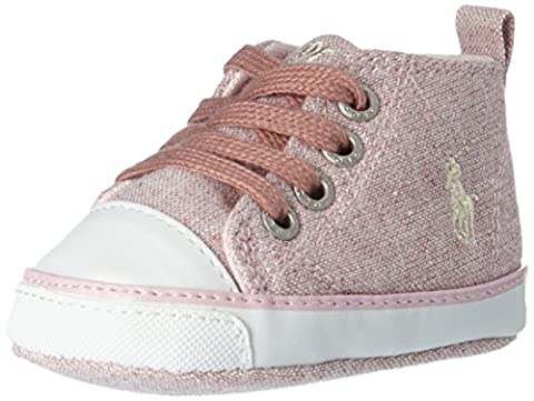 Ralph Lauren Baby Girls' Sag Harbour Hi Layette Classic Boots, Pink (Light Pink Heather Jersey W/ Cream Pp), 0.5UK Child