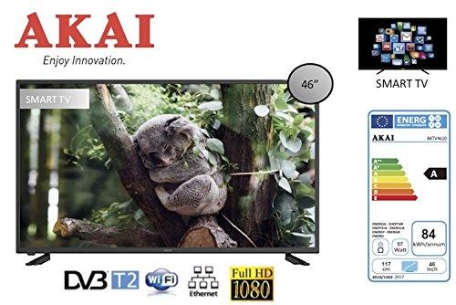 """TV LED 46"""" AKAI AKTV4620 FULL HD DVB-T2 WI-FI SMART TV NERO"""