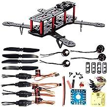XCSOURCE Combo Kit Cuadracóptero 250 FPV 4 Ejes 3K Fibra Carbono Motor CC3D 12A ESC RC005