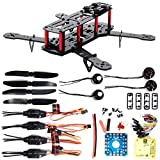XCSOURCE® Fibre de Carbone 3K FPV 250 Quadcopter Kit Combo CC3D 4-Axis Moteur 12A ESC RC005