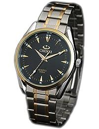 ufengke® edelstahl wasserdicht leucht armbanduhren für herren-schwarz