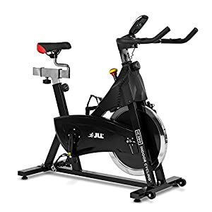 51ooca5O0ZL. SS300  - JLL IC260 Indoor Cycling 2019 Black Edition, 15kg Flywheel with Adjustable Resistance, 3-Piece Crank, 6-Function Monitor with Heart-rate, Adjustable Handlebars & Seat, 12-Month Home Use Warranty
