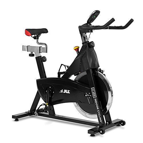 JLL IC260 Indoor Cycling 2018 Black Edition, 15kg Flywheel with Adjustable Resistance, 3-Piece Crank, 6-Function Monitor with Heart-rate, Adjustable Handlebars & Seat, 12-Month Home Use Warranty