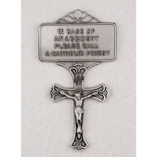 Crucifix Cross Visor Clip Card Visor Clips by McVan, Inc.