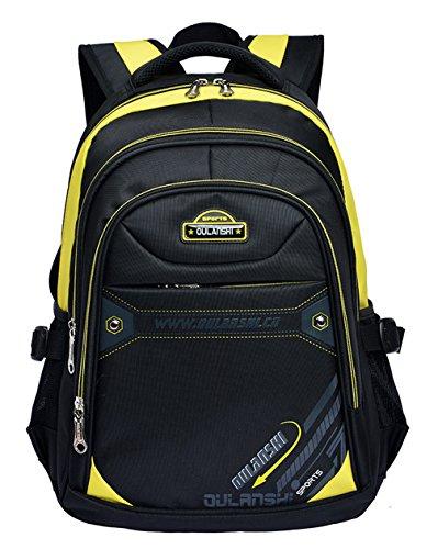 Longzibog Dual verstellbare Schultergurte und Hängeschlaufenband Mode Maedchen Rucksack Schulranzen Gelb
