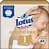 Lotus Baby Touch - Couche Taille 1 (2-5 kg/NouveauNé) 44 couches