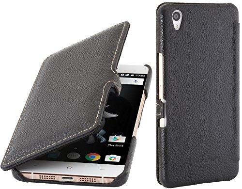 StilGut Book Type Case mit Clip, Hülle aus Leder für OnePlus X, Schwarz