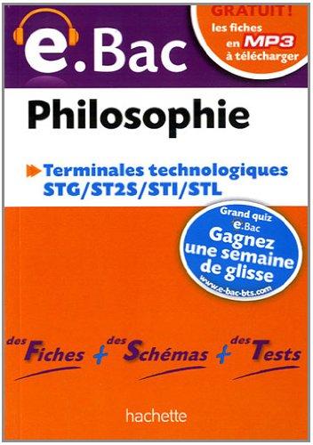 Philosophie Terminales technologiques e.bac