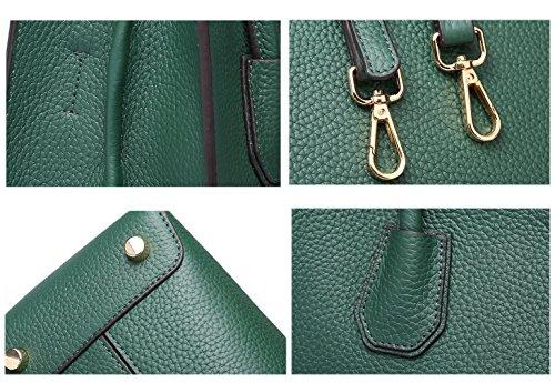 SAIERLONG Nuovo Donna Rosso Pelle Bovina Genuina Borse Tracolle Verde