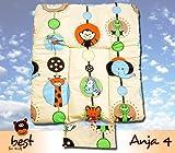 Best For Kids BESONDERE KUSCHELWEICHE Wickelauflage 100% Baumwolle Wickeltischauflage 3 in 1 in Größe 70x50 mit Öko Tex Standart (Anja4)