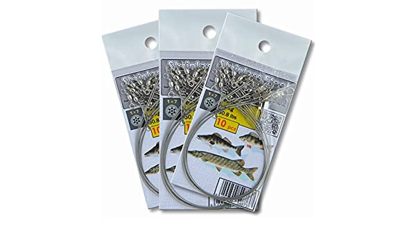 Lure Wire Leader Pike Fishing Traces 28cm 30lb 14kg Sea Tackle