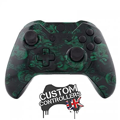 Xbox One Custom Controller - Green Skulls