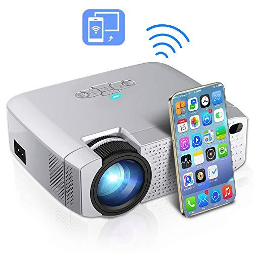 CZX Intelligenter beweglicher HD 1080P Projektor, LED-HD-Heimkinoanlage, Wireless Sync-Anzeige für IOS/Android Phone