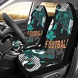 Zemivs Gioco del Ragazzo Divertimento Calcio Sport Personalizzato Nuovo Universale Car Seat Covers Protector per Le donnemobile Veicolo Set Completo Accessori per Adulti Baby Set di 2 Anteriore