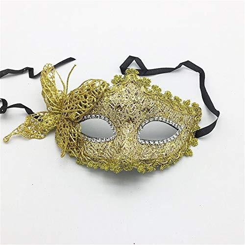 wachsene Maskerade Party Maske Halloween Prinzessin Maske Prom Schmetterling Maske Party Augenmaske, gelb Spielzeug ()