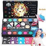 DOOKEY Pinturas Cara para Niños, Pintura Facial no Tóxicos con 16 Colores + 24 Plantillas + 2...