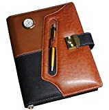 #3: Renown Executive Brown Leatherite Diary 2017 With Watch & Calculator In Key Lock ( Key Inside )